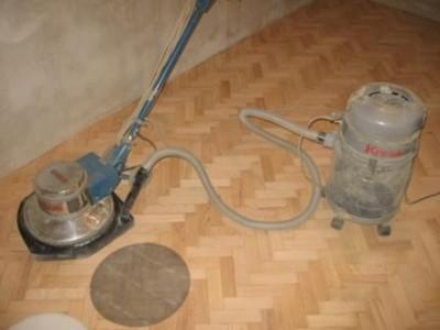 Очистка и полировка деревянных полов