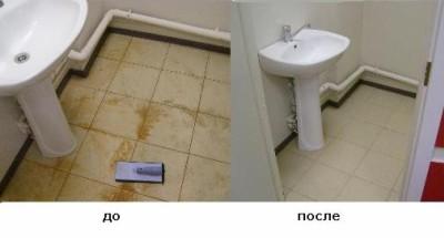 уборка после ремонта туалета